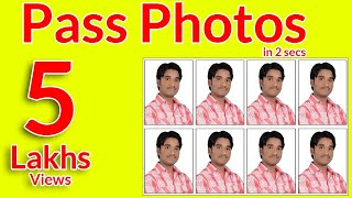 getlinkyoutube.com-How To Make Passport Photos in easy way using photoshop in telugu