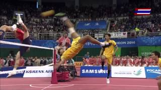 getlinkyoutube.com-Thailand - Korea 2014 ASIAN GAMES SEPAKTAKRAW -Gold Medal Match