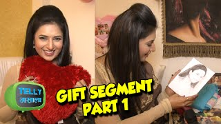 getlinkyoutube.com-Exclusive: Divyanka Tripathi Overwhelmed by Gifts from Fans On Her Birthday   Part 1
