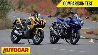 getlinkyoutube.com-Bajaj Pulsar RS 200 vs Yamaha YZF-R15   Comparison Test   Autocar India
