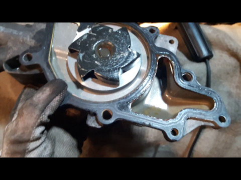 Как поменять или снять помпу на mercedes benz w211 facelift 2009 year