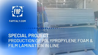 EXTRUSION LINE for PP SHEET FOAM with LAMINATOR ON LINE (LAMINATED FORMATS)