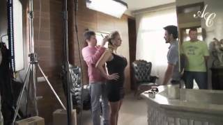 getlinkyoutube.com-Анна Семенович в мехах от Роксан. Съемка рекламного ролика.