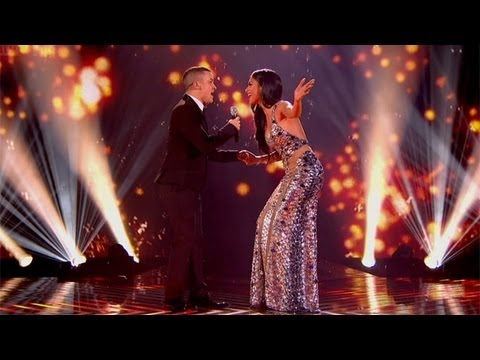 Jahmene and Nicole sing Whitney Houston's The Greatest Love - Live Week 10 - The X Factor UK 2012
