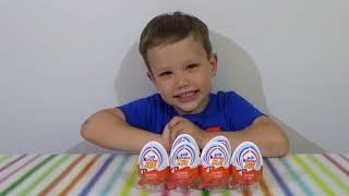Тачки Дисней Киндер Джой игрушки распаковка Disney Cars Kinder Joy toys