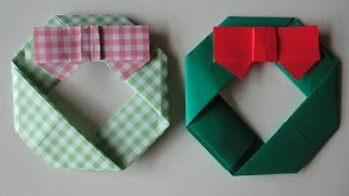 "getlinkyoutube.com-折り紙 X'mas ver. クリスマスリースの折り方   How to Origami ""X'mas lisse"""