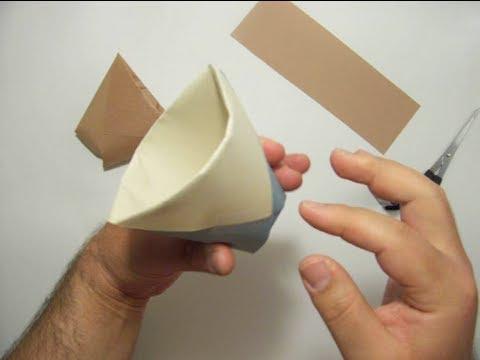 كيف تصنع كوب من ورق ?