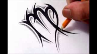 getlinkyoutube.com-Virgo Tattoos - How To Draw a Simple Tribal Star Sign