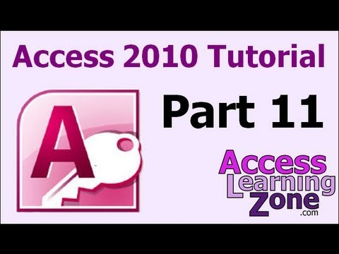 Microsoft Access 2010 Tutorial Part 11 of 12 - Customer Reports
