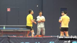 Amazing Skills - Ma Long & Xu Xin Catch Ball on Bat!