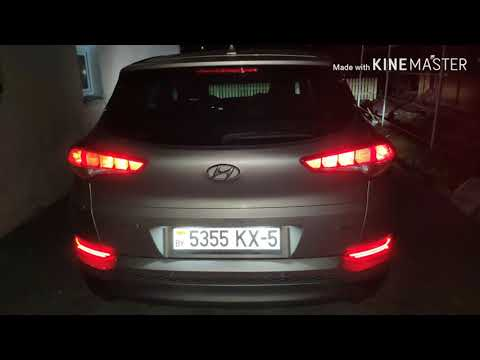 Led фары в задние ПТФ hyundai tucson tl 2016, real led fog lights