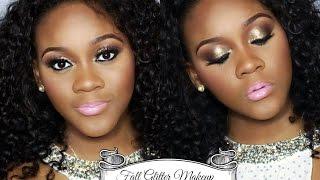 getlinkyoutube.com-Fall Glitter Makeup Tutorial