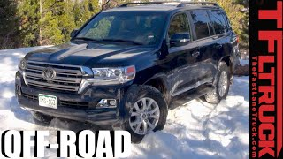 getlinkyoutube.com-2016 Toyota Land Cruiser Real World MPG Test & Snowy Off-Road Review