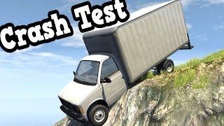 getlinkyoutube.com-BeamNG Drive - Vehicles Falling Off a Cliff