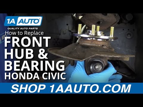 How to Replace Front Hub and Bearings 01-05 Honda Civic