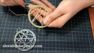 getlinkyoutube.com-DIY - tutorial orecchino a cerchio uncinetto argento -oro gioielli fai da te facile e semplice
