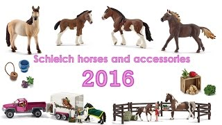 getlinkyoutube.com-Schleich horses and accessories 2016 FOR NOW!!  [FARMLIFE]