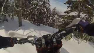 getlinkyoutube.com-Мотоцикл на гусенице Timbersled