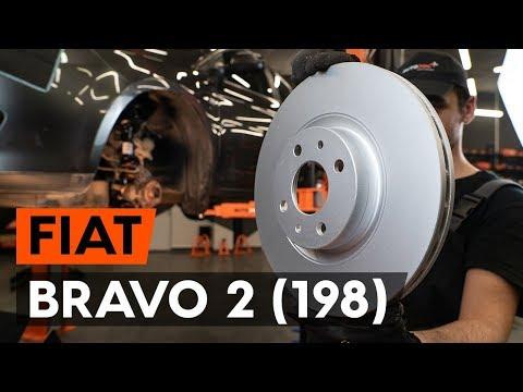 How to replace front brake discs/front brake rotors on FIAT BRAVO 2 (198) (TUTORIAL AUTODOC)