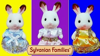 getlinkyoutube.com-Праздничные Платья для кролика Марии! НОВИНКА! Мультяшный обзор Sylvanian Families Dressing Area Set