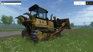 getlinkyoutube.com-Farming simulator 2015 Bull dozer mod