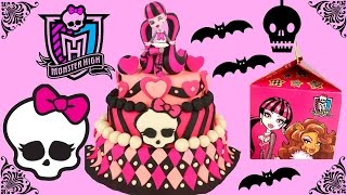 getlinkyoutube.com-MONSTER HIGH Play Doh Surprise Cake! McDonald's HAPPY MEAL Toys!