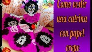 getlinkyoutube.com-Como vestir una catrina   Especial Día de muertos