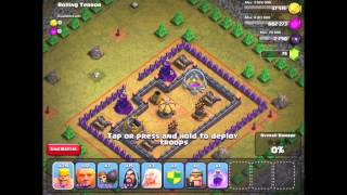 getlinkyoutube.com-Clash of Clans: Rolling Terror #47 - 3 Star with TH 7 units - (Updated/New May 2014)