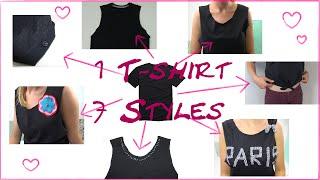 DIY Fashion Tshirt 7 Styles