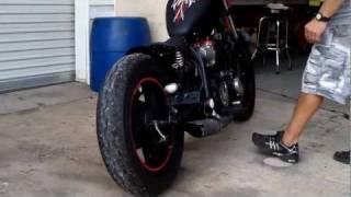 getlinkyoutube.com-Bare Bone Rides Custom 1981 Yamaha XJ650 Maxim Bobber Build (Fired-Up)