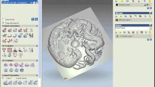 getlinkyoutube.com-Art CAM training 3D Dragon SaleCNC.com