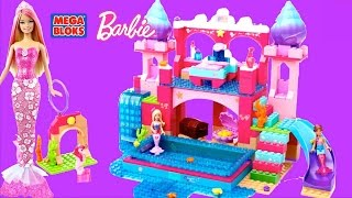 getlinkyoutube.com-Mega Bloks Barbie Build N Play Underwater Castle with Mermaid Barbie Dolls
