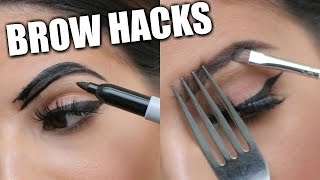 getlinkyoutube.com-EYEBROW HACKS That Everyone Should Know!