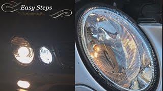 getlinkyoutube.com-How to install LED Parking City Lights on E350 Mercedes W211 | E550 LED upgrade