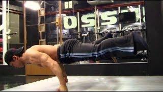 getlinkyoutube.com-【プランシェ動画】足を浮かせた腕立て伏せに挑戦! Planche Push Up Challenge