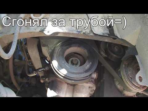 Как отвернуть болт шкива каленвала How to remove the crankshaft pulley bolt