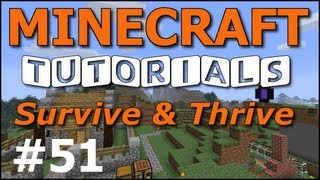 getlinkyoutube.com-Minecraft Tutorials - E51 Light Posts and Lamps (Survive and Thrive II)