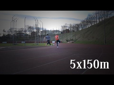 150m sprint training after injury