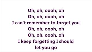 getlinkyoutube.com-Rihanna ft Shakira - Can't Remember To Forget you (Official lyrics) HD