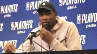 Kevin Durant On Injuring His Ankle Late In The Game vs Spurs