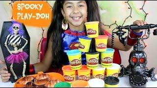 getlinkyoutube.com-Spooky Tuesday Play Doh Giant Pumpkin Ghost Bat  Hallooween 2015 | B2cutecupcakes