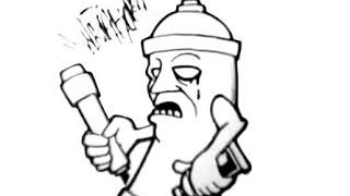 getlinkyoutube.com-How to draw a scary spraycan - (Chicano Rap Instrumental)
