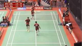 Afiat Y. W./M. Ahsan (PB Djarum) VS Alvent Y./Rian A. S.(Jaya Raya Suryanaga) Djarum Kejurnas 2012