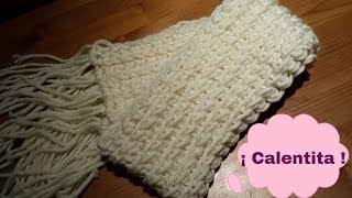 getlinkyoutube.com-Bufanda / Unisex paso a paso / scarf step - by - step