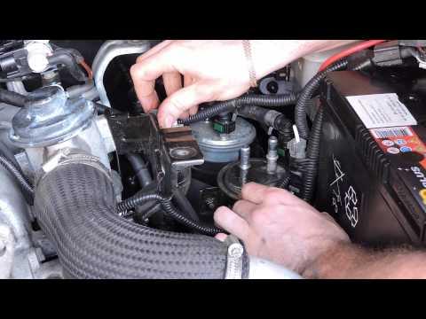 Замена топливного фильтра на на кайроне. Топливный фильтр на SsangYong Kyron.