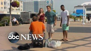 getlinkyoutube.com-Teens Harrass And Humiliate the Homeless | What Would You Do? | WWYD