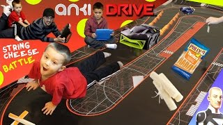 getlinkyoutube.com-Anki Drive Family Race Battle! Attack of the String Cheese?!?! (Starter Kit Gameplay Review Fun)