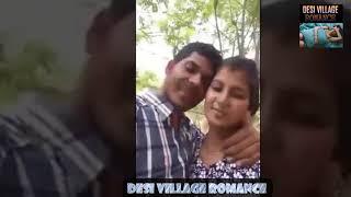 desi couple sexy kissing  at park recording at phone ||desi village romance ||