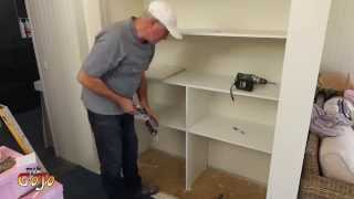 getlinkyoutube.com-Building Wardrobe Shelves DIY, Ensuite #42