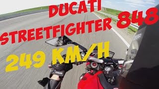 getlinkyoutube.com-Ducati StreetFighter 848 Termignoni exhaust (249 km/h) GoPro Hero3+